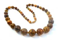 Vintage Scottish Style Murano Glass Bead Necklace.